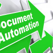 Document Automation. Business Concept. — Stock Photo
