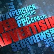 Stock Photo: WEB Advertising. Wordcloud Concept.