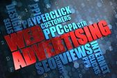 WEB Advertising. Wordcloud Concept. — Stock Photo