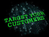 Target Your Customers. Business Concept. — Stock Photo