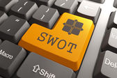 Keyboard with SWOT Button. — Stock Photo