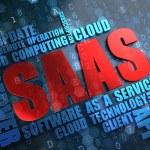 SAAS. Wordcloud Concept. — Stock Photo