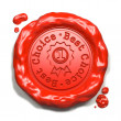 Stock Photo: Best Choice - Stamp on Red Wax Seal.