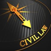 Civil Law. Business Background. — Stock Photo