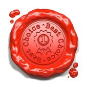 Best Choice - Stamp on Red Wax Seal. — Stock Photo