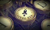 Web Traffic Key on Grunge Typewriter. — Stock Photo