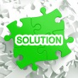Stockfoto: Solution. Puzzle Business Concept.