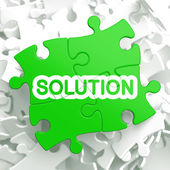 Solution. Puzzle Business Concept. — Stock Photo