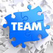 Team.  Puzzle Business Concept. — Photo