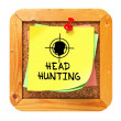 Headhunting. Yellow Sticker on Bulletin. — Stock Photo #33231185