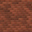 Dark Red Brick Wall. Seamless Tileable Texture. — Stock Photo #33231411