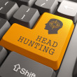 Keyboard with Headhunting Button. — Stock Photo