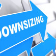 Downsizing. Business Background. — Stock Photo