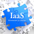 IAAS. Puzzle Information Technology Concept. — Stock Photo