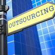 Outsourcing. Business Concept. — Stock Photo