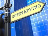 Outstaffing. Business Concept. — Stock Photo