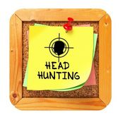 Headhunting. Yellow Sticker on Bulletin. — Stock Photo