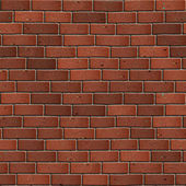 Dark Red Brick Wall. Seamless Tileable Texture. — Stock Photo
