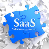 SAAS. Puzzle Information Technology Concept. — Stock Photo