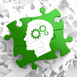 Stock Photo: Psychological Concept on Green Puzzle Pieces.