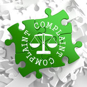 Complaint Concept on Green Puzzle Pieces. — Stock Photo