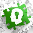 Psychological Concept on Green Puzzle Pieces. — Stock Photo #33372349