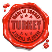 Made in Turkey - Stamp on Red Wax Seal. — Stock Photo