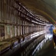 Underground Tunnel with Water. — Foto Stock