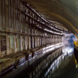 Underground Tunnel with Water. — Stok fotoğraf