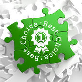 Best Choice Concept on Green Puzzle Pieces. — Stock Photo