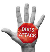 DDoS Attack - Stop Concept. — Stock Photo