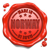 Made in Norway - Stamp on Red Wax Seal. — Stock Photo