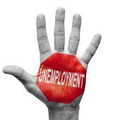 Unemployment. Stop Concept. — Stock Photo