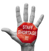 Staff Shortage. Stop Concept. — Stock Photo