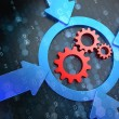 Cogwheel Gear Icon on Digital Background. — Stock Photo #34765229