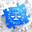 Stock Photo: Complaint Concept on Blue Puzzle.