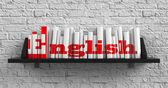 Inglese. concetto di educazione. — Foto Stock