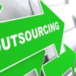 Outsourcing. Business Background. — Stock Photo