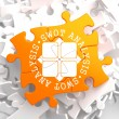 SWOT Analisis on Orange Puzzle. — Stock Photo