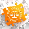 Stock Photo: Complaint Concept on Orange Puzzle.