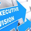 Executive Vision on Blue Arrow. — Stock Photo