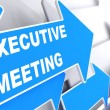 Executive Meeting on Blue Arrow. — Stock Photo