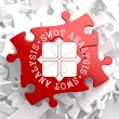 SWOT Analisis on Red Puzzle. — Stock Photo