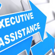 Executive Assistance on Blue Arrow. — Stock Photo