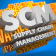 SCM. Business Concept. — Foto Stock