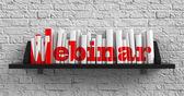 Webinar. Education Concept. — Stockfoto
