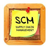 SCM. Yellow Sticker on Bulletin. — Stock Photo