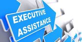 Executive Assistance on Blue Arrow. — Foto Stock