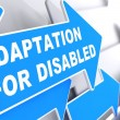 Постер, плакат: Adaptation for Disabled on Blue Arrow