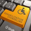 Rehabilitation Counseling for Disabled on Button. — Stock Photo #35513085